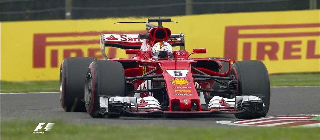 Foto de FP1 Japão – Vettel coloca Ferrari na ponta, com Hamilton em segundo e Sainz acaba batendo a sua Toro Rosso