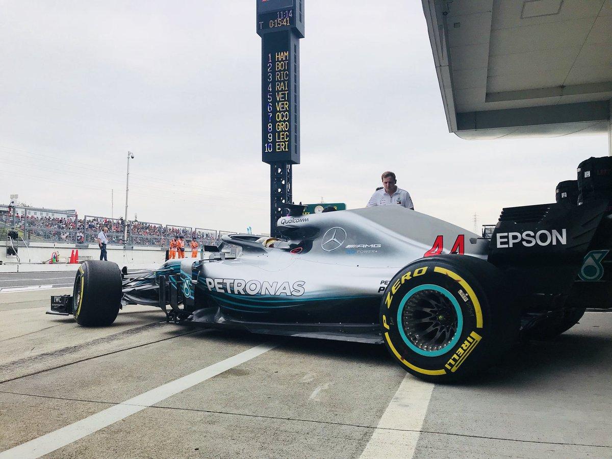 Foto de TL1 Japão – Hamilton sobra, para liderar dobradinha da Mercedes em Suzuka