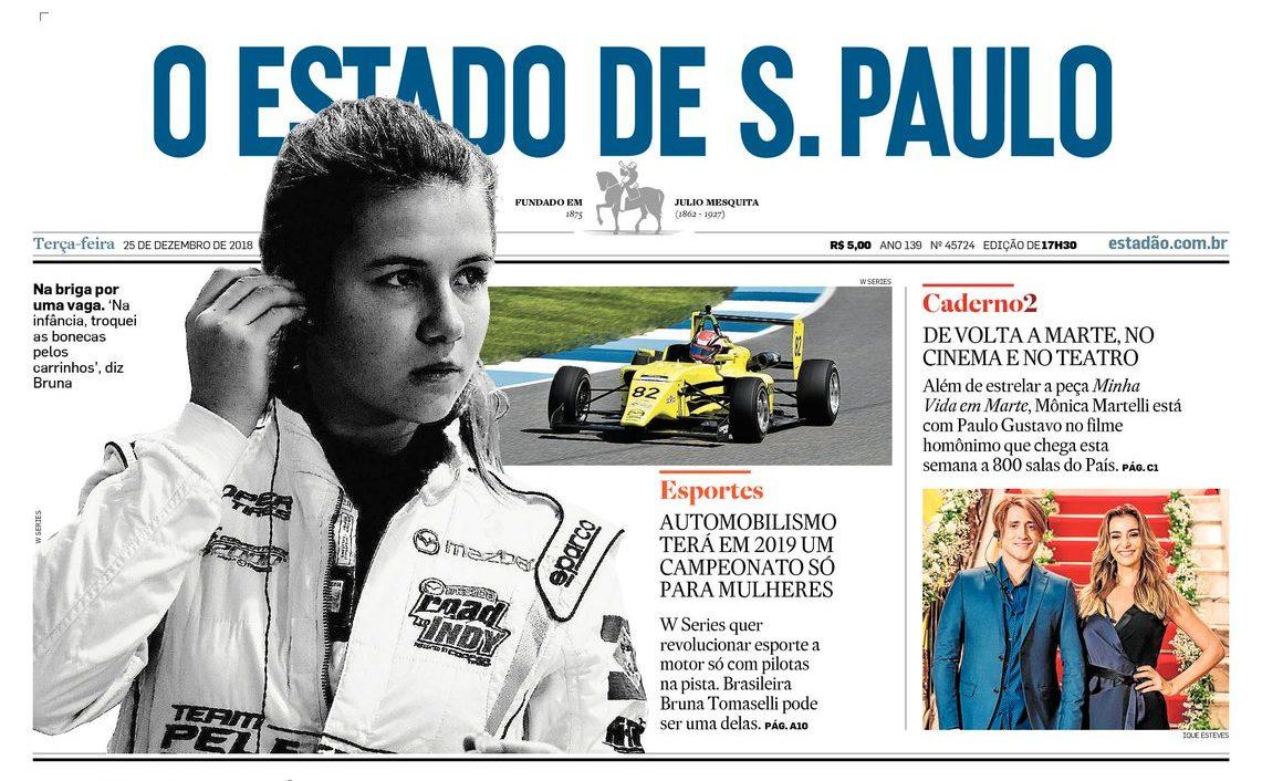 Photo of Bruna Tomaselli candidata a uma das vagas na W Series é destaque do Estadão neste Natal, entenda a importância