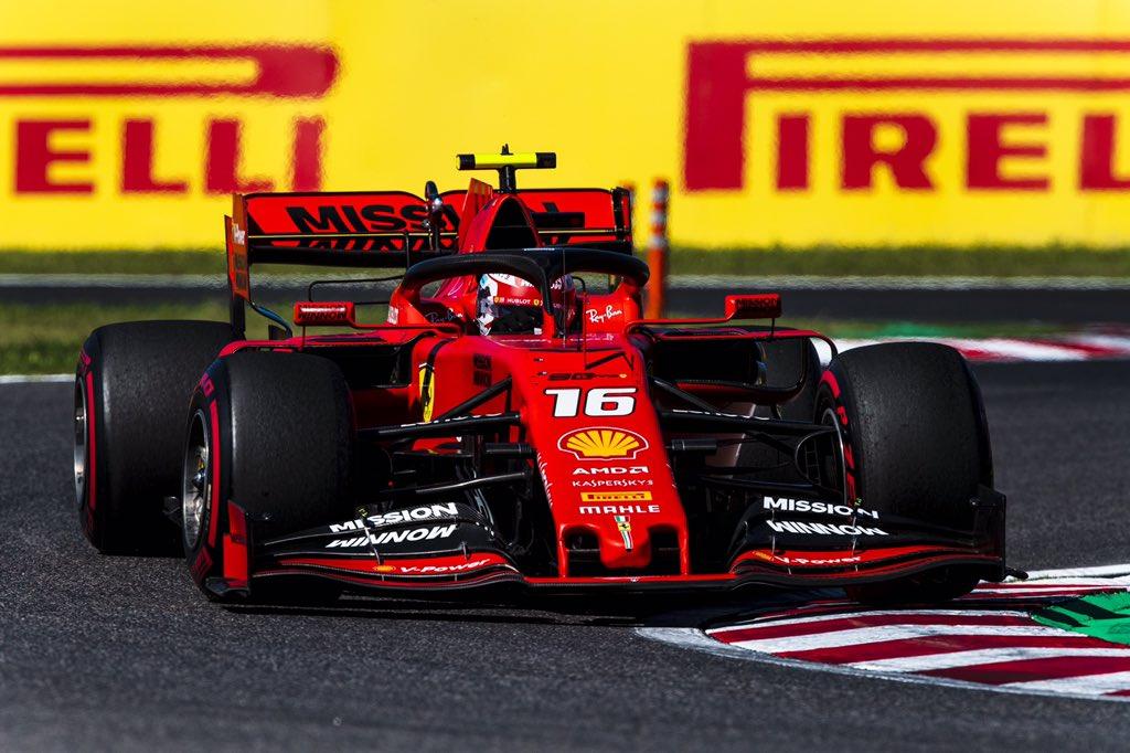 Foto de Charles Leclerc é penalizado, após encerramento do GP do Japão