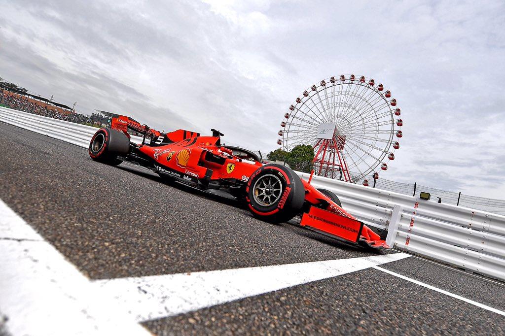 Foto de Classificação Japão – Sebastian Vettel quebra favoritismo e crava pole surpreendente em Suzuka, Ferrari detêm a primeira fila