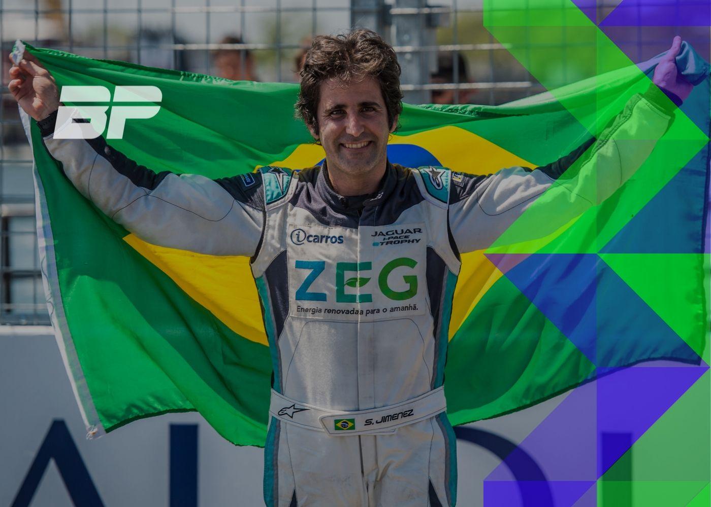 Foto de Jimenez vai testes um carro de Fórmula E em Valência