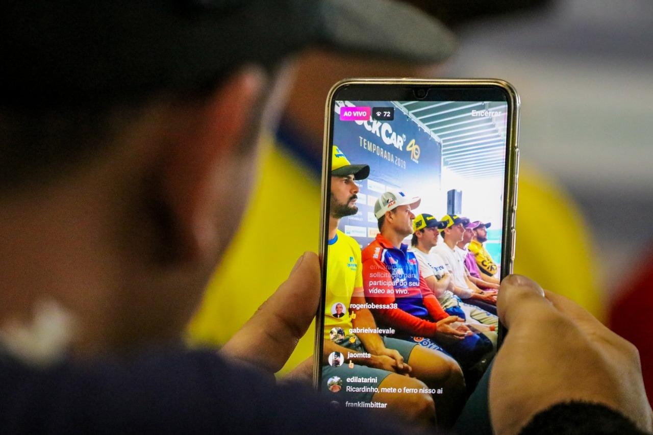 Foto de Galeria de fotos da coletiva com os postulantes ao título da Stock Car 2019, fotos de Beto Correa