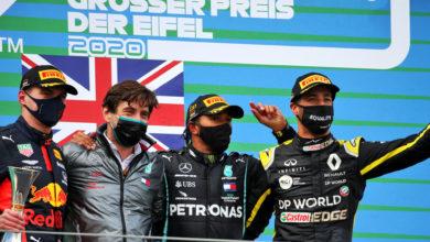 Foto de Volta por Volta – Vitória de Hamilton com Verstappen e Ricciardo completando o pódio