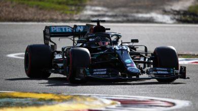 Foto de GP de Eifel – Lewis Hamilton brilha e iguala a recode de vitórias de Schumacher. Ricciardo vai ao pódio