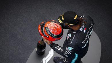 Foto de Os capacetes, a homenagem e outros momentos com os cascos no GP de Eifel