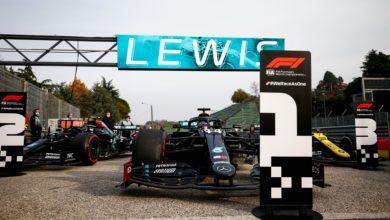 Foto de Com melhor estratégia, Hamilton vence corrida em Ímola, Ricciardo vai ao pódio e Mercedes conquista 7º título de construtores