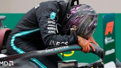 Foto de Lewis Hamilton, fonte de inspiração e determinação