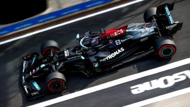 Foto de Mercedes explica o motivo para não fazer a troca completa do motor de Hamilton
