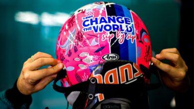 Foto de Vettel aproveita capacete na Turquia para chamar atenção para os Oceanos